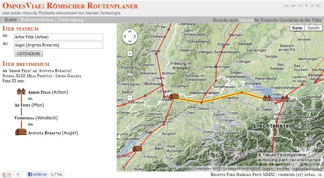 Römischer Routenplaner