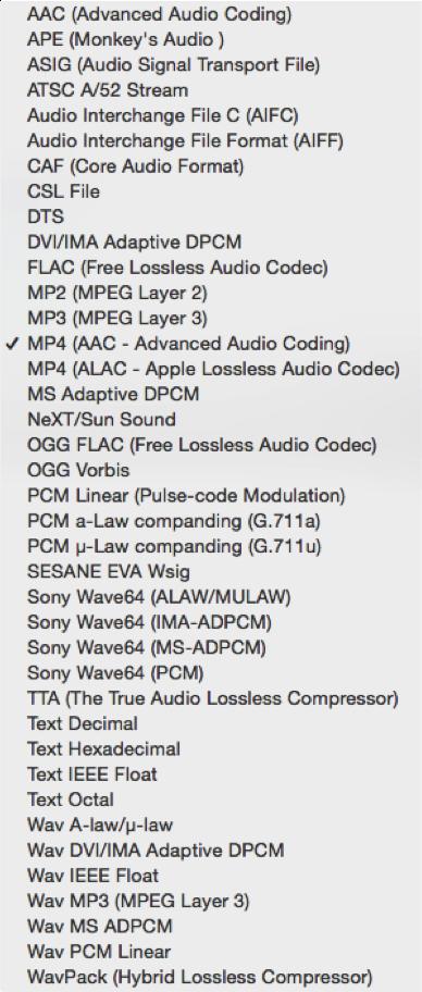 audioformate